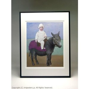 パブロ・ピカソ ロバに乗るパウロ 額付ポスター Pablo Picasso:Paulo on a Donkey|artposters