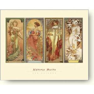アートポスター アルフォンス・ミュシャ 四季, 1900年 Alphonse Mucha: Les Saisons, 1900|artposters