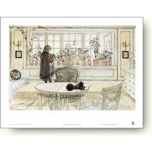 カール・ラーション 窓辺におかれた花 【アートポスター】 |artposters