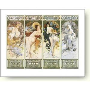 アートポスター アルフォンス・ミュシャ 四季 Alphonse Mucha: Les Saisons|artposters