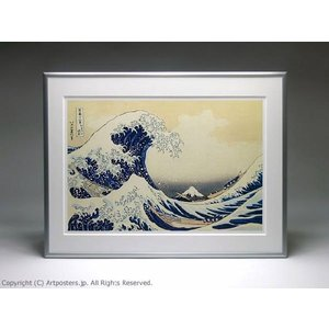 葛飾北斎 冨嶽三十六景 神奈川沖浪裏 額付ポスター Katsushika Hokusai:The Great Wave at Kanagawa【特価額装品】|artposters|03