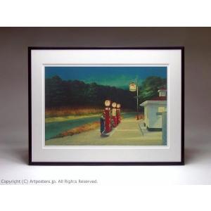 エドワード・ホッパー ガソリンスタンド 額付ポスター Edward Hopper:Gas, 1940|artposters