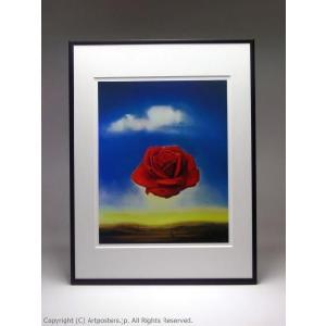 サルバドール・ダリ 瞑想するバラ 額付ポスター Salvador Dali :The Meditative Rose, 1958|artposters