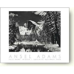 アンセル・アダムス ハーフ・ドーム, マーセド川, 冬 【フォトポスター】|artposters
