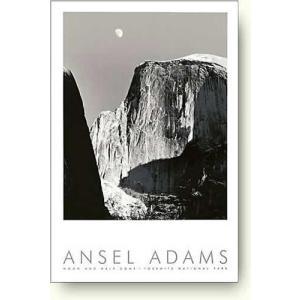 アンセル・アダムス 月とハーフ・ドーム 【写真ポスター】|artposters