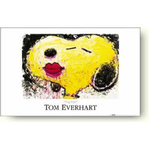 【出荷区分D】絶版品トム・エバーハート スヌーピー Dog Lips 【アートポスター】|artposters