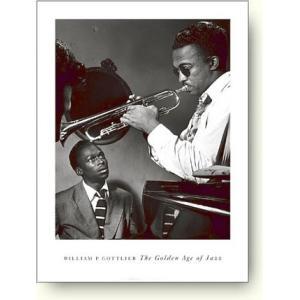 ジャズポスター ハワード・マギーとマイルス・デイヴィス William Gottlieb: Howard McGhee and Miles Davis|artposters