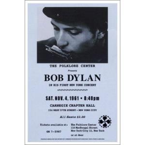 ▼ボブ・ディランポスター/カーネギ・ホール, 1961年 Bob Dylan|artposters