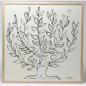アンリ・マティス: プラタナス 木製額付きポスター(2016年度600枚限定制作のリトグラフ使用)|artposters