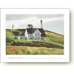 ▼アートポスター エドワード・ホッパー/Hill and Houses, Cape Elizabeth, Maine, 1927|artposters