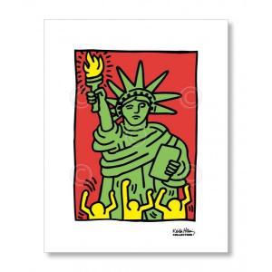 キース・ヘリング Keith Haring: Statue of Liberty, 1986 【アートポスター】|artposters