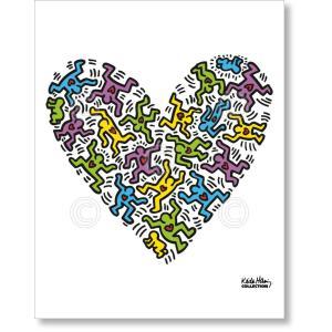 キース・ヘリング Keith Haring: Untitled, 1985 (heart) 【アートポスター】|artposters