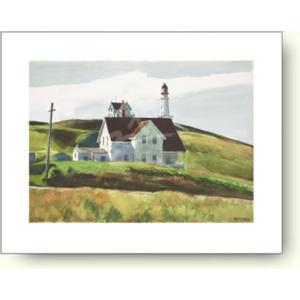 エドワード・ホッパー Hill and Houses, Cape Elizabeth, Maine, 1927 【アートポスター】|artposters