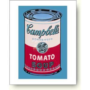 【アートポスター】アンディ・ウォーホル キャンベルスープトマト缶, ピンクと赤|artposters