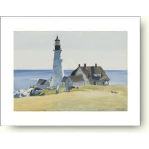 エドワード・ホッパー 灯台と建物 【アートポスター】|artposters