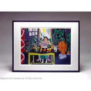 アンリ・マティス エトルリアの花瓶のある室内 額付ポスター Henri Matisse:Interior with an Etruscan Vase, 1940【特価額装品】|artposters