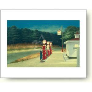エドワード・ホッパー ガスステーション 1940年 【アートポスター】|artposters