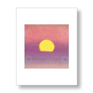 【出荷区分C】アンディ・ウォーホル:フラワー Andy Warhol: Sunset, 1972 (lavender) アートポスター|artposters