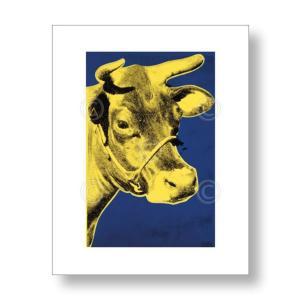 アンディ・ウォーホル:牛 Andy Warhol: Cow, 1971 (blue & yellow) アートポスター artposters