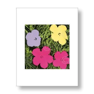 【出荷区分C】アンディ・ウォーホル:フラワー Andy Warhol: Flowers, 1970 (1 purple, 1 yellow, 2 pink) アートポスター|artposters