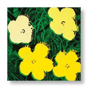 アンディ・ウォーホル:フラワー Andy Warhol: Flowers, 1970 (4 yellow) アートポスター|artposters