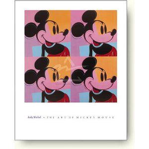 【出荷区分D】アンディ・ウォーホル:ミッキーマウス Andy Warhol: Mickey Mouse (Myths Series), 1981【アートポスター】|artposters