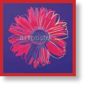 【出荷区分C】アンディ・ウォーホル Andy Warhol: Daisy, c.1982 (blue & red) アートポスター|artposters