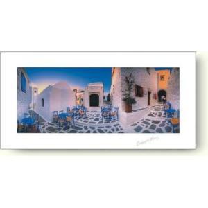 ジョルジュ・メイス 中庭のカフェ 【フォトポスター】|artposters