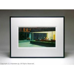 エドワード・ホッパー ナイトホークス 額付ポスター Edward Hopper:Nighthawks【特価額装品】|artposters