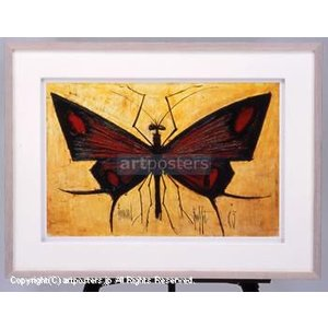 ベルナール・ビュッフェ (Bernard Buffet) 赤い蝶 【特価額装品】|artposters