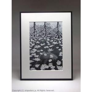 M.C.エッシャー 三つの世界 額付ポスター Maurits Cornelis Escher:3 Worlds|artposters