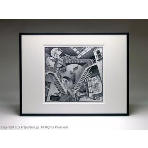 【出荷区分B】M.C.エッシャー 相対性 額付ポスター Maurits Cornelis Escher:Relativity|artposters