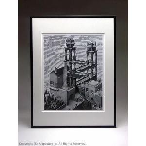 M.C.エッシャー 滝 額付ポスター Maurits Cornelis Escher:Waterfall|artposters