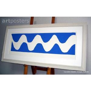 アンリ・マティス 波, 1952年 シルクスクリーン+マット+高級額縁 【特価額装品】|artposters