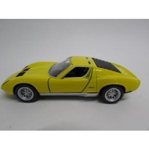 1/34 LAMBOR GHINI MIURA P400 ダイキャストミニカー ランボルギーニ P400 ミウラ イエロー|artrenge|02