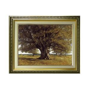 ギュスターヴ・クールベ The Oak at Flagey F6  【油絵 直筆 複製画】【額縁付】...