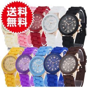 13colors シリコンウォッチ ビビットカラー ポップカラー シリコン腕時計 レディース腕時計|arts-wig
