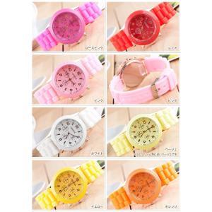 13colors シリコンウォッチ ビビットカラー ポップカラー シリコン腕時計 レディース腕時計|arts-wig|03