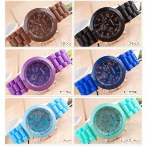 13colors シリコンウォッチ ビビットカラー ポップカラー シリコン腕時計 レディース腕時計|arts-wig|04