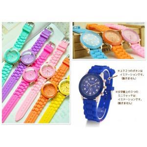 13colors シリコンウォッチ ビビットカラー ポップカラー シリコン腕時計 レディース腕時計|arts-wig|05