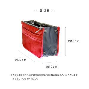 バッグインバッグ 大きめ コスメポーチ インナーバッグ ミニトート レディース 12色 男女兼用バッグ|arts-wig|05