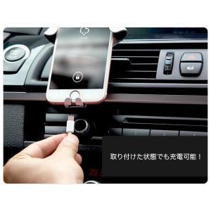 車載スマホホルダー エアコン吹き出し口 車載ホルダー スマホホルダー スマホ iPhone 自動幅固定 車載 車載スタンド スマホスタンド|arts-wig|03