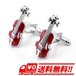 1組 メンズ カフス バイオリン型 カフスボタン カフリンクス シルバー シンプル ビジネス 冠婚葬祭 結婚式 音楽会 パーティー|arts-wig