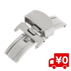 ステンレススチール プッシュ式 Dバックル 腕時計 バックル シルバー 両開き 金具 バックル交換 パーツ|arts-wig