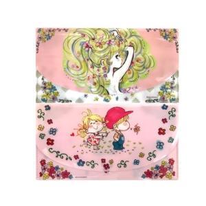 【水森亜土ちゃん マスクケース】「オンナノコ」「ナカヨシ」 抗菌ニス 感染症対策 かわいい ピンク 日用品|artsalonwasabi