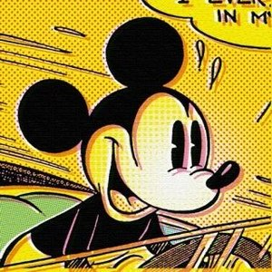 ディズニー「Art Deli / アートデリ」「ミッキー黄色」壁掛け 《インテリア・プレゼントにおすすめ》|artsalonwasabi