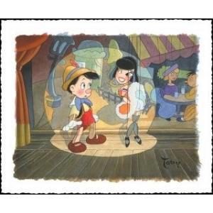 ディズニー公式アーティスト絵画/トビー・ブルース作「Ooh A LaLa」ピノキオ シルクスクリーン|artsalonwasabi