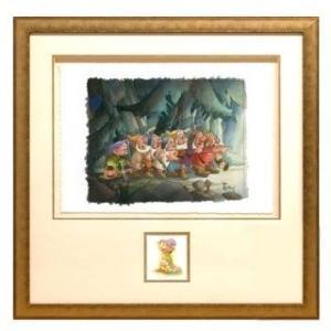 ディズニー公式アーティスト絵画/トビー・ブルース作「Coming Home」シルクスクリーン 七人の小人 白雪姫|artsalonwasabi
