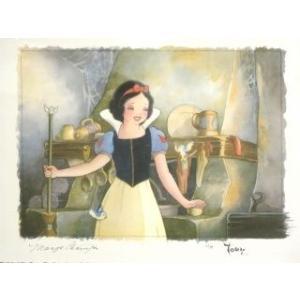ディズニー公式アーティスト絵画/トビー・ブルース作「Portrait of Innocence」シルクスクリーン 白雪姫|artsalonwasabi