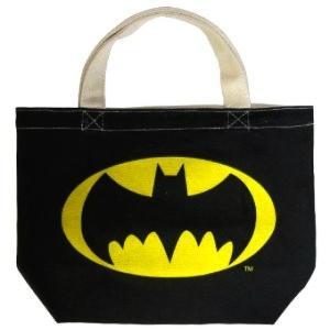 バットマン マチ付きコットンバッグ (アイコン) ランチバック ブラック|artsalonwasabi